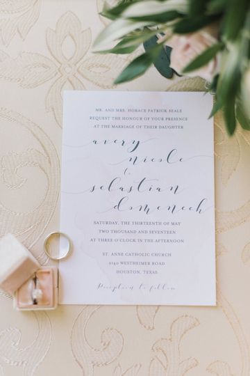 Invitation and ring