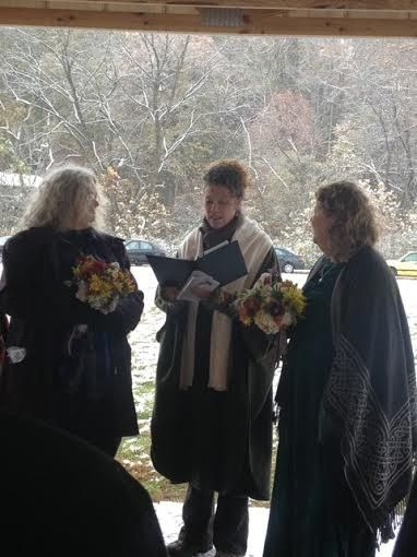 Wedding in a snow storm: Jill and Jude