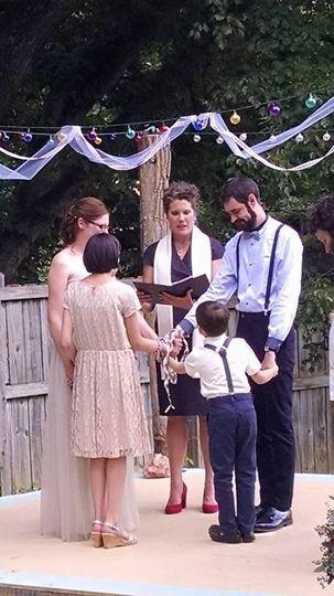 Jamie and Joshua and their children, Ava and Rowan