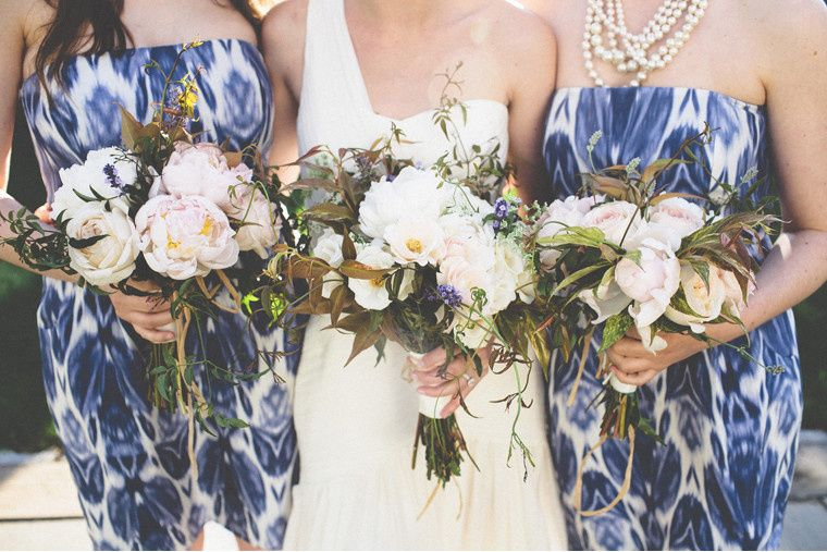 Girls and bouquets