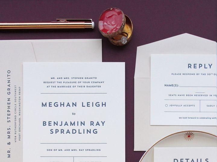 Tmx 1522963658 5600da69db1334b3 1522963656 34ffc5f346f403db 1522963652037 8 Spradling Web Seattle, WA wedding invitation