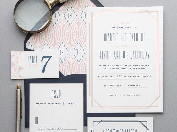 Tmx 1522963726 291afa83d7caa600 1522963725 F423bb07cdaf0dc7 1522963724951 10 Galloway Thumb Seattle, WA wedding invitation
