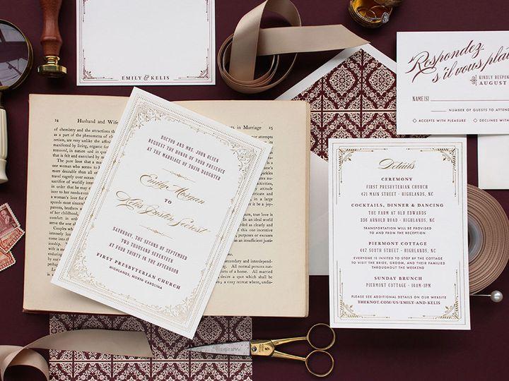 Tmx 1522963957 24aedc1ebfc3557a 1522963956 90ccf94415b383cf 1522963955513 1 Dahlia Press Invit Seattle, WA wedding invitation