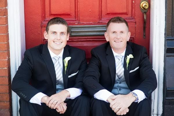 The best man and the groom