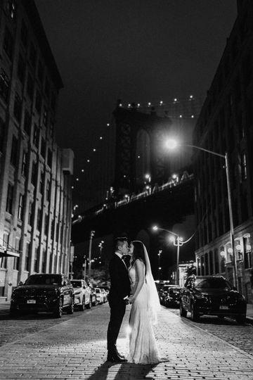 Wedding in Brooklyn at night