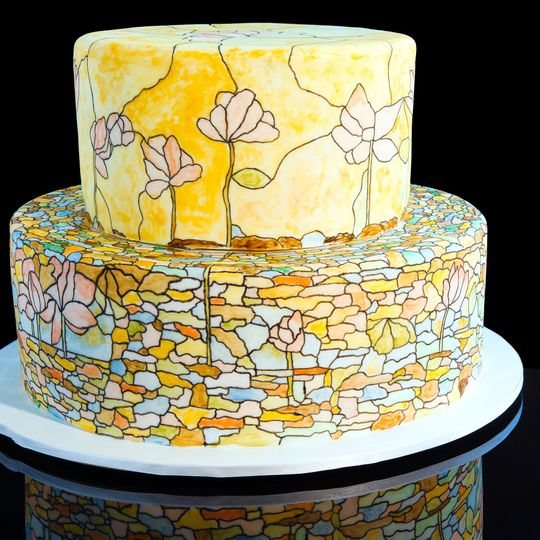 stained glass cake 5