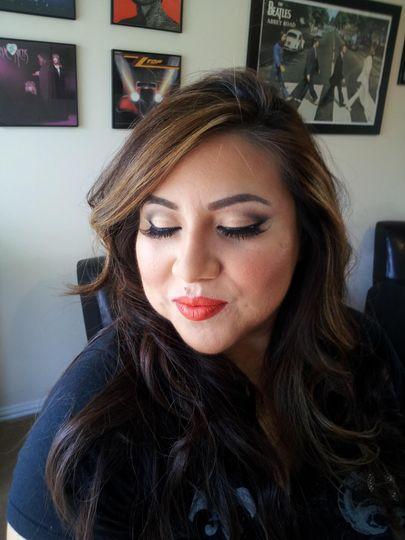 Bridal shower makeup