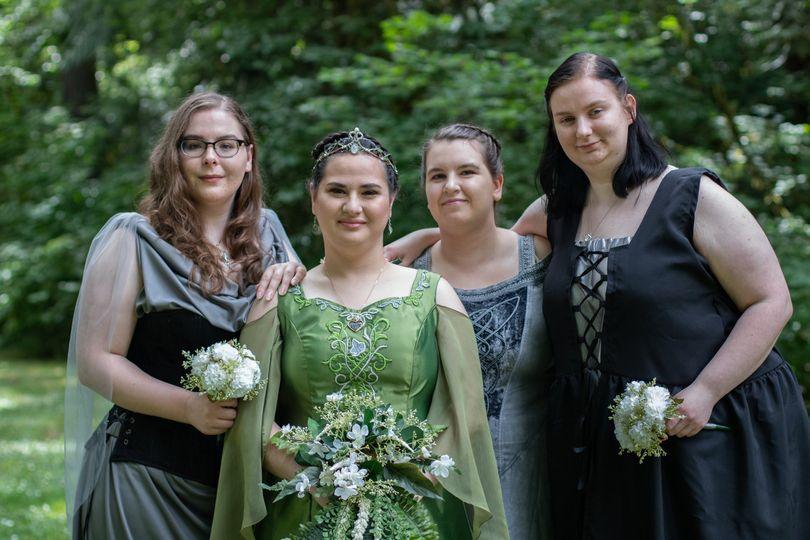 Renaissance bridal party