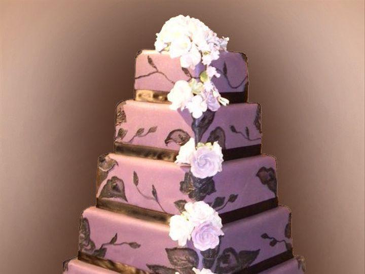 Tmx 1426555825410 Purple Wedding 2 West Orange, NJ wedding cake