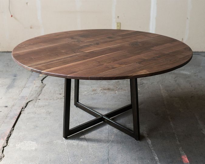 reception table walnut 22