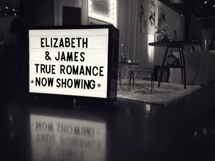 lightbox marquee bw