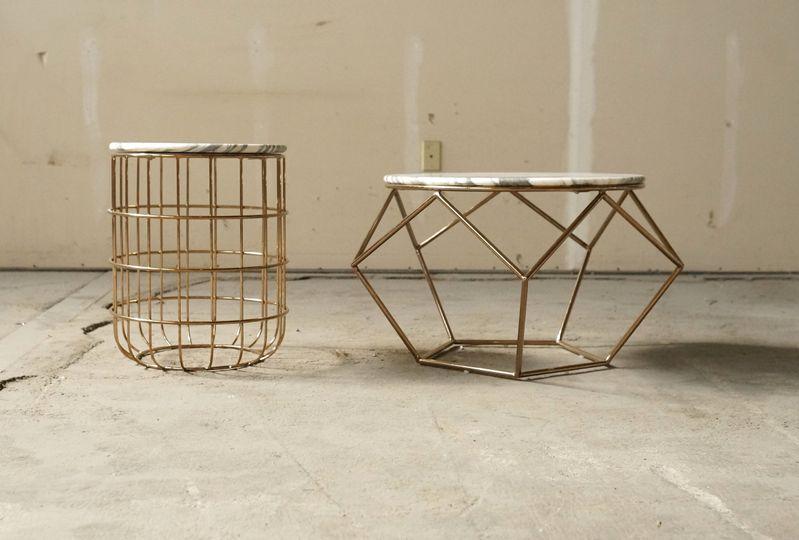 geo marble coffee table