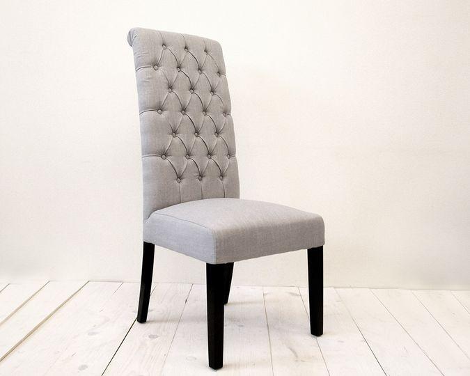 tall back gray chair
