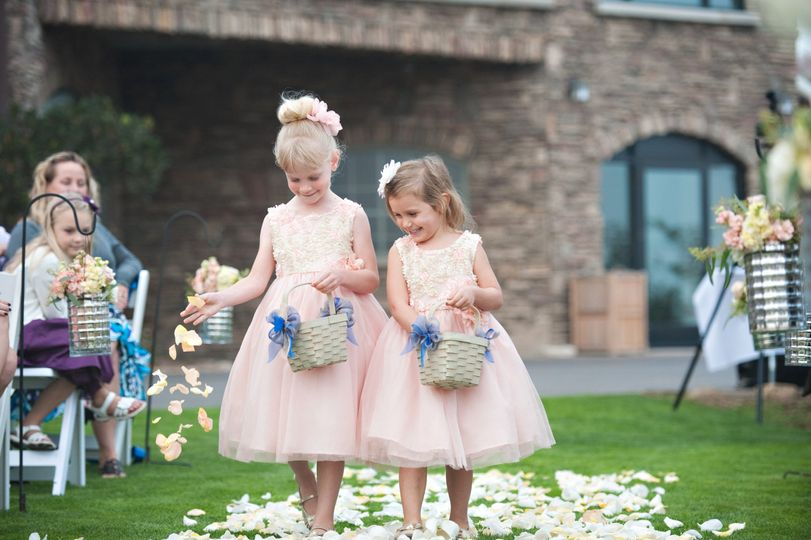 Flower girls of the wedding