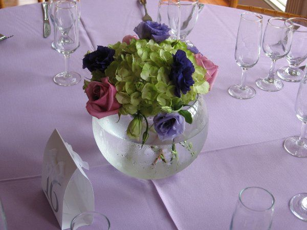 The centerpiece was used for a reception at the Occoquan Mill House Museum.