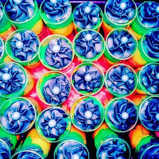 Rainbow push pops