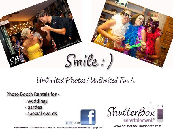Only smiles at the photo booth!