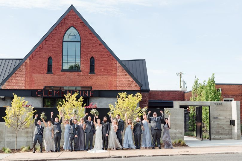 Bridal party Clementine Hall
