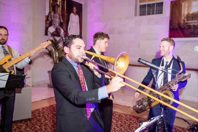 Kevin on trombone!