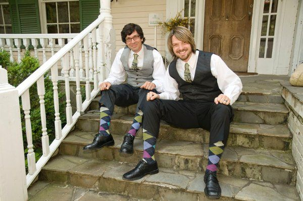 Fun argyle socks