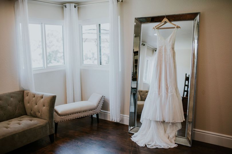 Bridal Suite with dress hanging