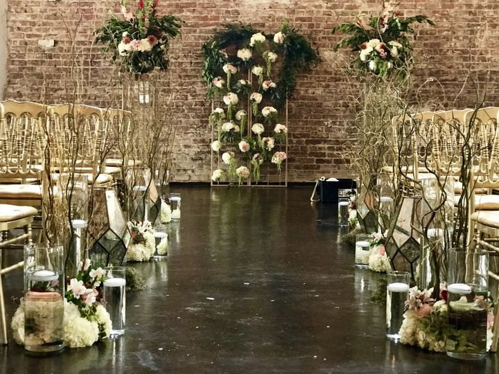 Wedding ceremony set-up