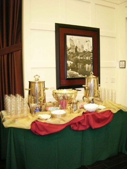 Holiday Beverage Station Regular & Decaffeinated Coffee   Punch Bowl with Egg Nog