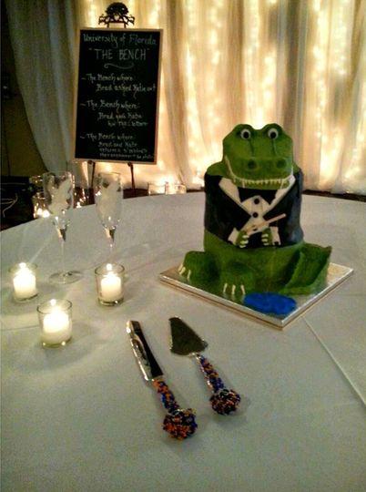 alligator grooms cake