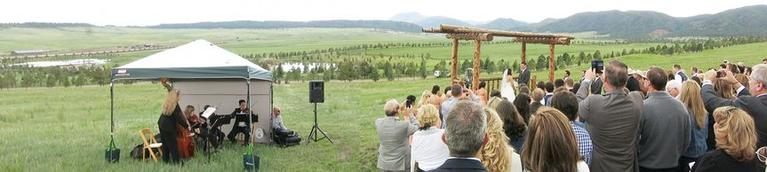 Panorama of the lovely Spruce Mountain Ranch.