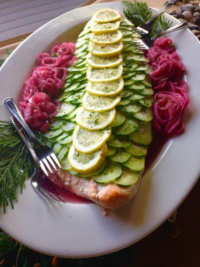 Plank Roasted Salmon