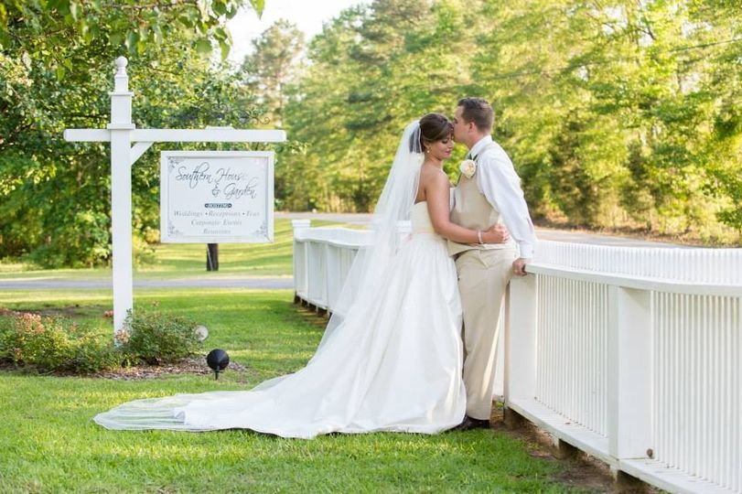 southern house and garden bride