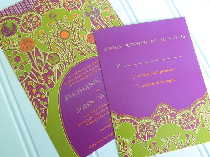 Tmx 1394325629090 New Invitations 15 Averill Park wedding invitation