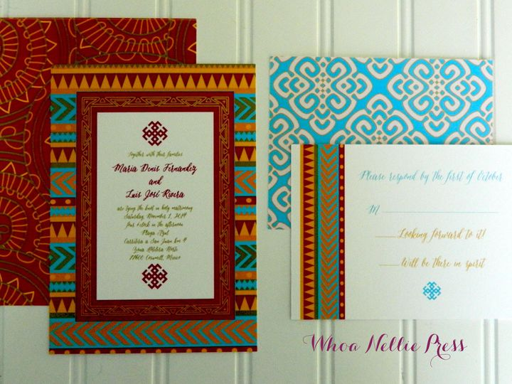 Tmx 1394325748496 New Invitations 104 Averill Park wedding invitation