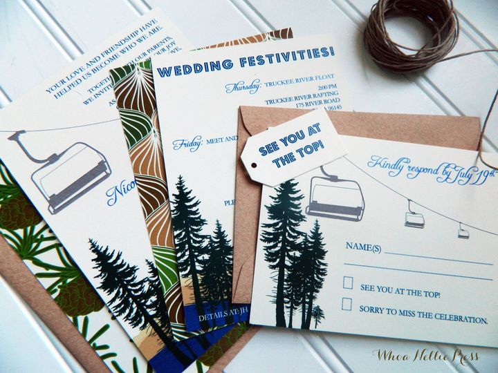 Tmx 1394326305772 Nicoles Tahoe Invitations 001 Averill Park wedding invitation