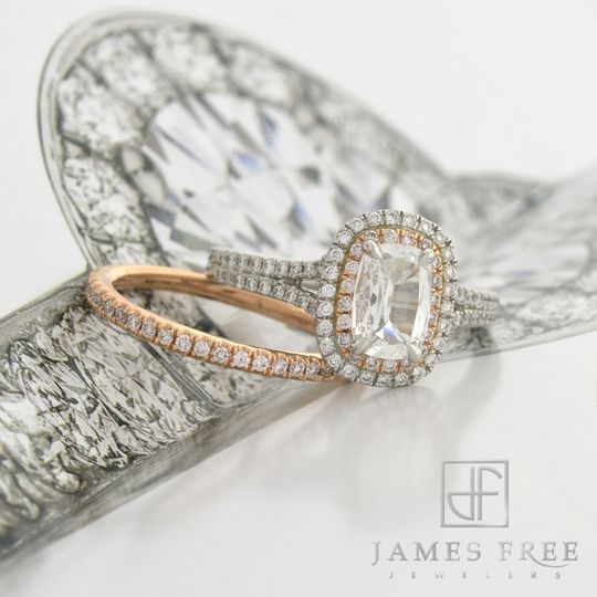 Henri Daussi Diamond Engagement Rings and Wedding Bands, James Free Jewelers