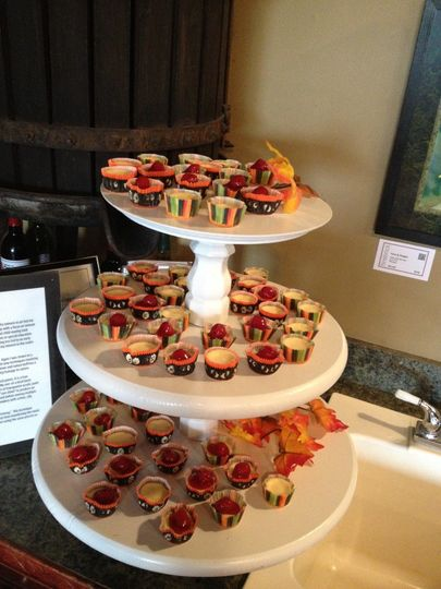 Bridal Shower: Mini Cheesecakes with Cherries on top
