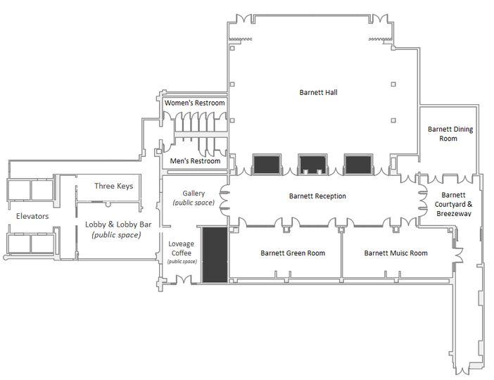 Ace Hotel - 1st Floor Diagram