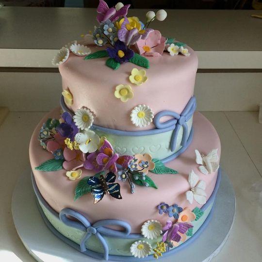 flowerandbutterflycake