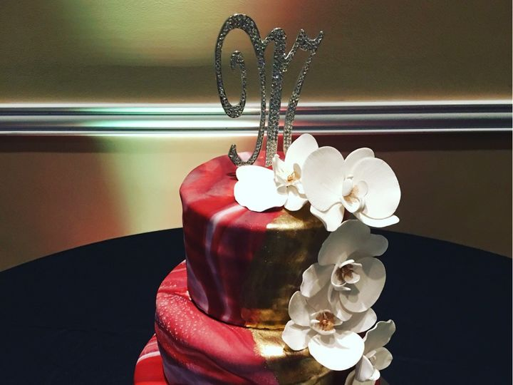Tmx Marble And Orchids Cake 51 728814 159287115141306 Tampa, Florida wedding cake