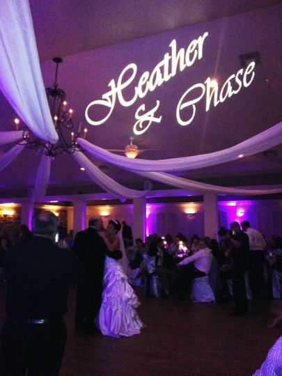 Gobos make any event special with your names in lights!