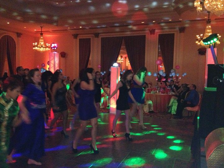We get the party going and our dance lights make it that much more fun!