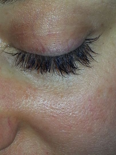 AFTER EYELASH EXTENSIONS..WITH NO MASCARA