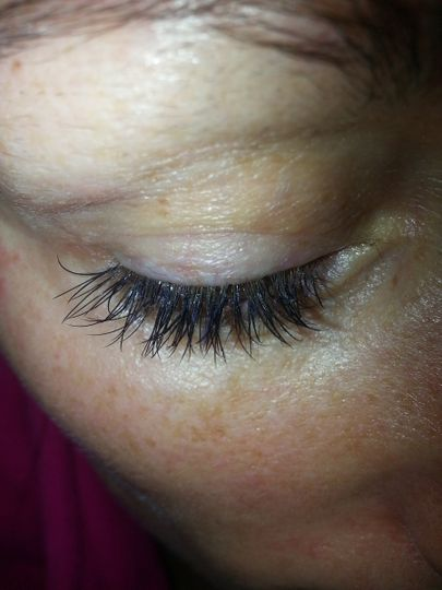 AFTER EYELASH EXTENSIONS. NO NEED FOR MASCARA