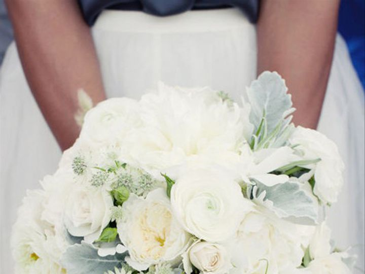 Tmx 1456767832083 White And Green Bouquet With Dusty Miller Tulsa, Oklahoma wedding florist