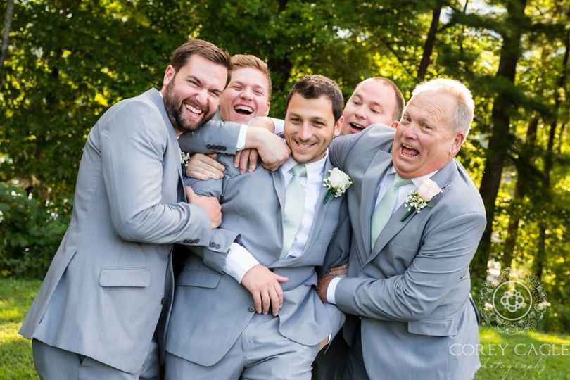 Groom and Groomsmen having fun