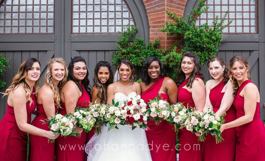 Bridesmaids in Asheville, North Carolina