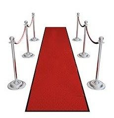 event carpet, runners and stanchions