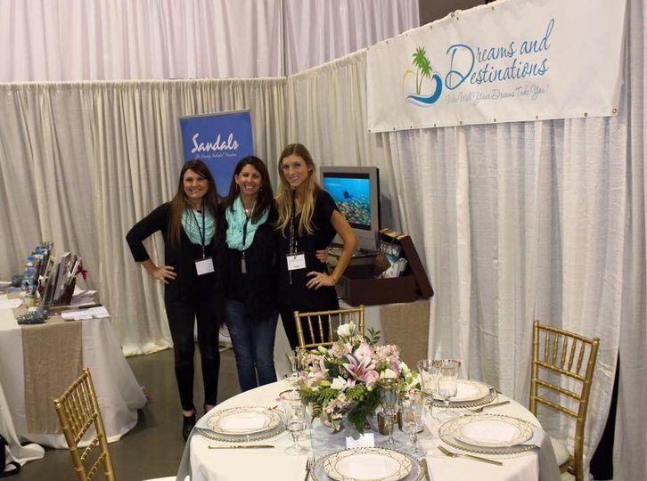 The Charlotte Team at the Charlotte Bridal Showcase