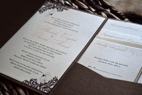 Tmx 1313597642654 Openedpeachinvitation Durham wedding invitation