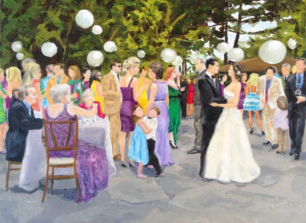 """""""Wedding Day"""" a beautiful garden wedding reception in Bedford, New York."""